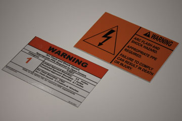 Arc Flash sign labels