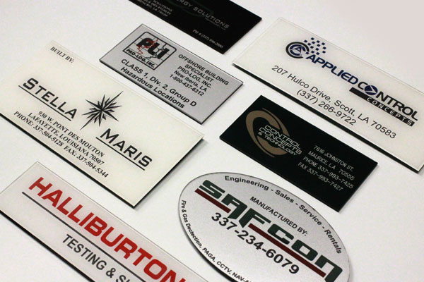 multi-color logo tags