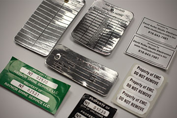 aluminium coated tags